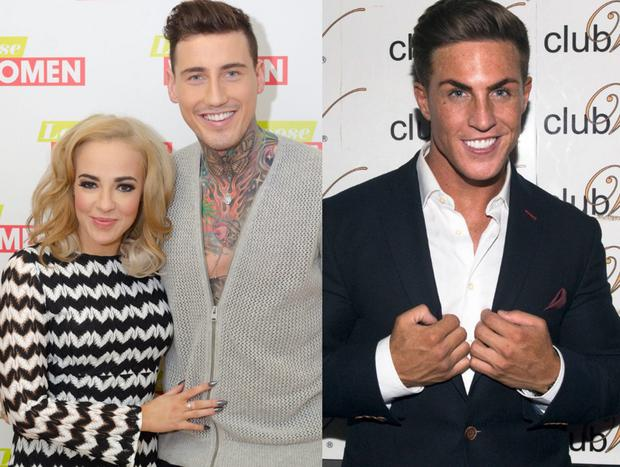 Stephanie Davis and Jeremy McConnell (left) and Marc O'Neill (right)