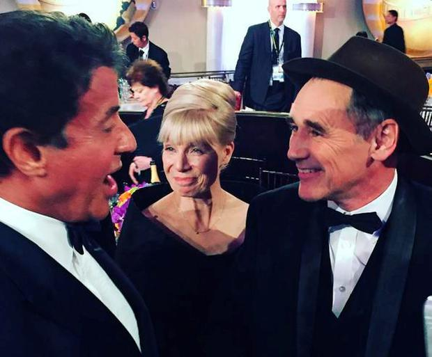 Sly Stallone and Mark Rylance. PIC: Sly Stallone Instagram.