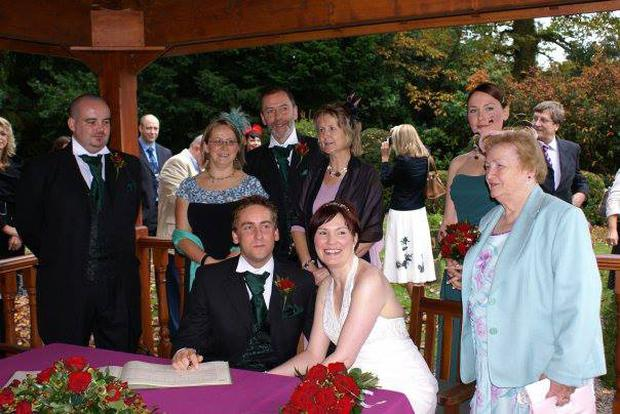 Pete and Mair on their wedding day. Photo: Mummy's Star Facebook.