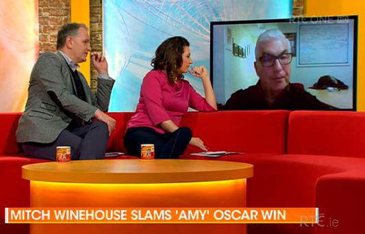 Mitch Winehouse talks to Maura and Daithi on Today via Skype