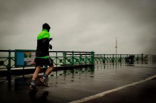 On a cold and wet evening, it is more tempting to reach for the remote rather than your running shoes. Photo: Flickr
