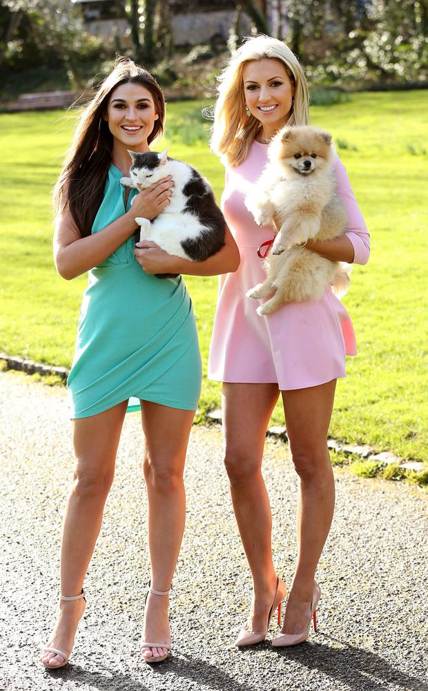 Lynn Kelly with her Vegas and Rosanna Davison with Ted, pictured at the launch of Pedigree and Whiskas Ireland's Pawsitive Living campaign. Photo: Robbie Reynolds