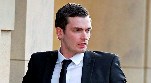 Footballer Adam Johnson arrives at Bradford Crown Court