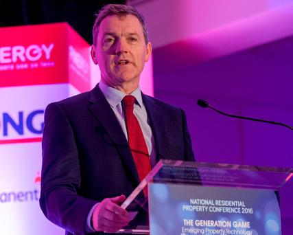 Permanent TSB's Niall O'Grady addressing the National Residential Property Conference. Photo: Iain White Photography