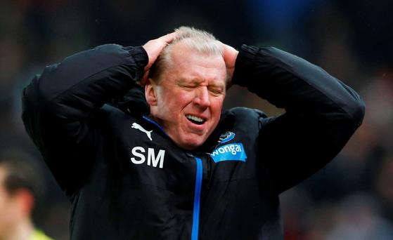 Newcastle manager Steve McClaren looks dejected following his side's defeat Photo: Reuters / Carl Recine