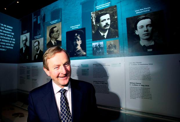 Enda Kenny at the launch of 'Proclaiming a Republic: The 1916 Rising exhibition' at the National Museum (Brian Lawless/PA Wire)
