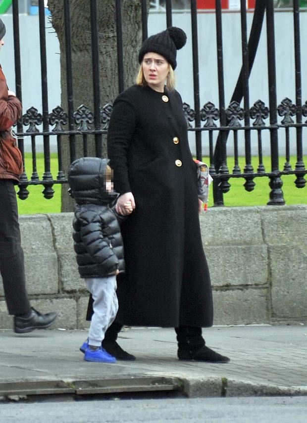 Adele and Angelo (3) enjoy a day out in Dublin.