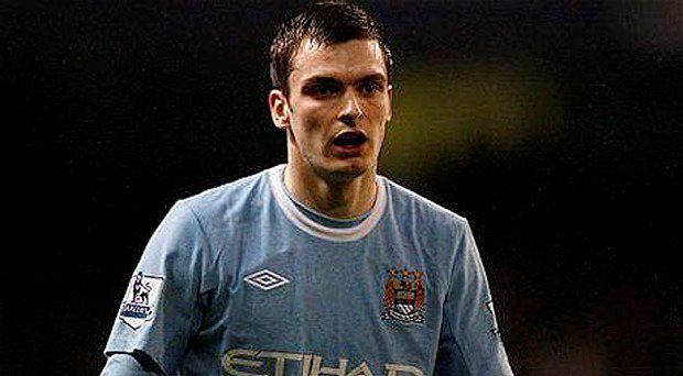 Johnson during his Manchester City days