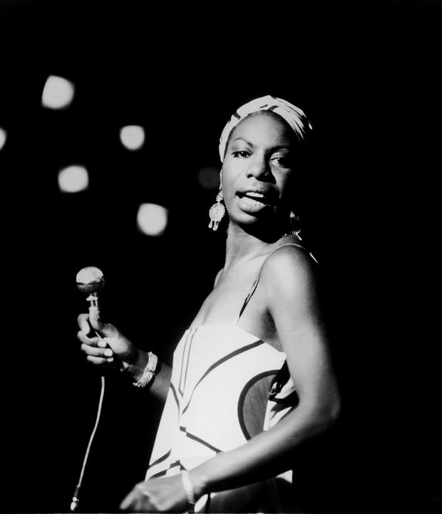 OCTOBER 18, 1964: American pianist and jazz singer Nina Simone performs October 18, 1964 in an unidentifed location. (Photo by Getty Images)