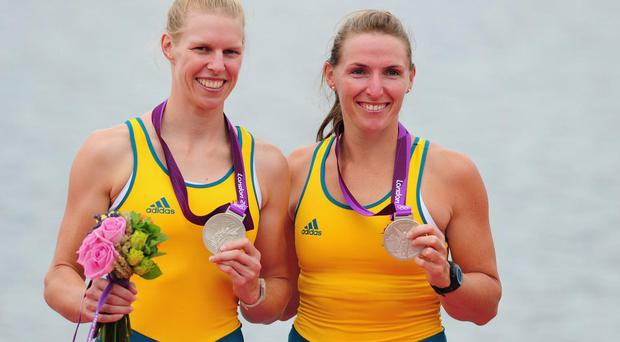 Sarah Tait (left) won Olympic silver alongside Kate Hornsey at London 2012 in the women's pairs