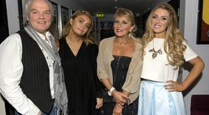 2016: Chloe Agnew poses with sister Naomi and parents Twink and David Agnew after her performance in Celtic Woman at the National Concert Hall.