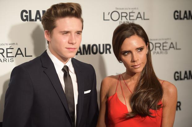 Brooklyn Beckham and mum Victoria Beckham