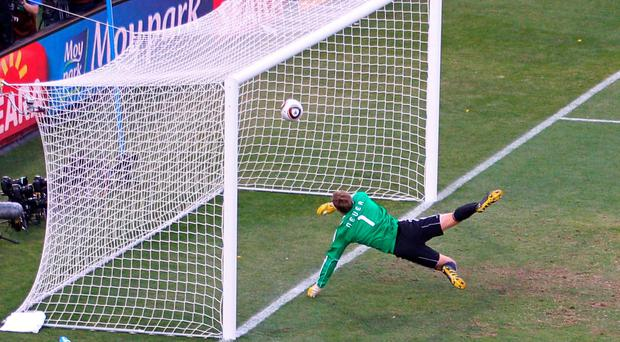 The famous Frank Lampard 'goal' that was never given against Germany in 2010 World Cup