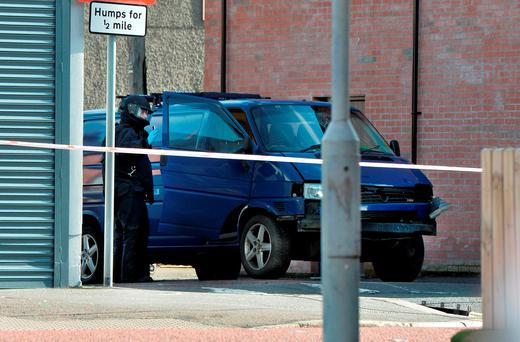 The 52 year old man, a serving prison officer who was driving the van has been taken to hospital. (Photo by Charles McQuillan/Getty Images)