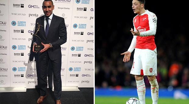 Dimitri Payet beat Mesut Ozil to the London Premier League Player of the Year award