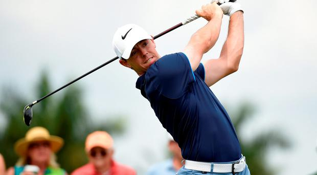 Rory McIlroy in action at Doral