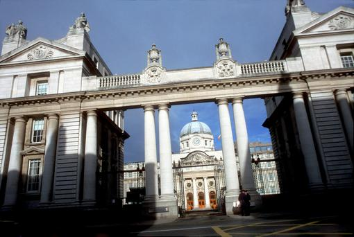 Hive of activity: Government offices on Merrion Street, Dublin. Photo: Getty