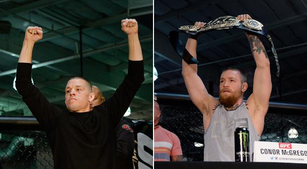 Nate Diaz and Conor McGregor