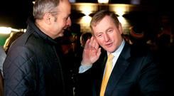Fianna Fáil leader Micheál Martin and Enda Kenny of Fine Gael – time to come together in the national interest? Photo: MAXPIX