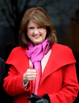 There was some criticism of Joan Burton in the first two debates, but she performed strongly in the third and her set piece broadcast interviews were as strong as the much-praised Micheál Martin. Photo: Tom Burke