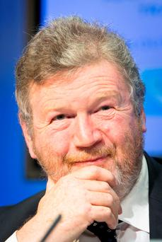 Dignity and determination: Former Health Minister, and Children's Minister, Dr James Reilly. Photo: Gareth Chaney Collins