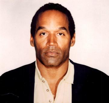 OJ Simpson in a police photo taken at the time of the murders