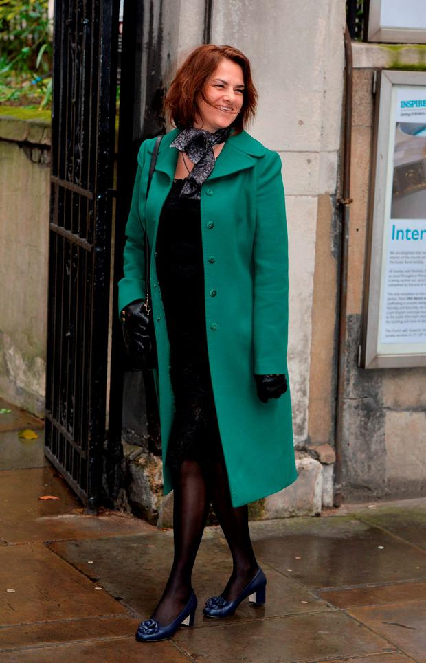 Tracey Emin arrive at St Bride's Church in London for a ceremony to celebrate the wedding of Rupert Murdoch and Jerry Hall. Picture: John Stillwell/PA Wire