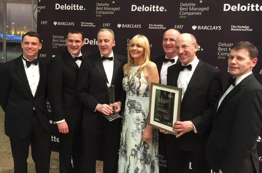 Some of the Hodson Bay Hotel Group team with presenter Miriam O'Callaghan