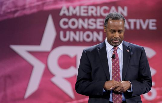 Republican US presidential candidate Dr. Ben Carson says he will still be involved in 'saving' America Credit: Joshua Roberts (REUTERS)