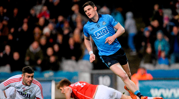 Diarmuid Connolly, Dublin, after scoring his sides first goal