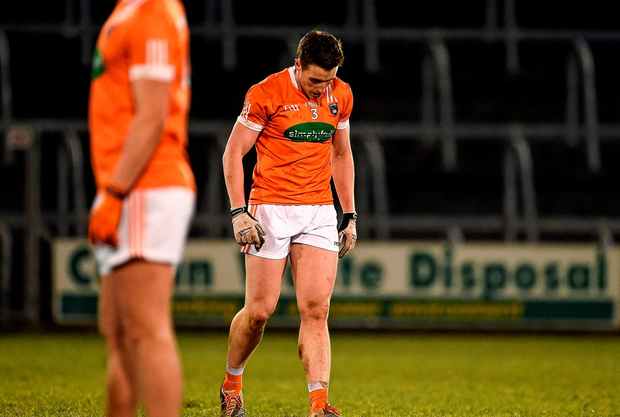 A dejected Charlie Vernon, Armagh, after the game