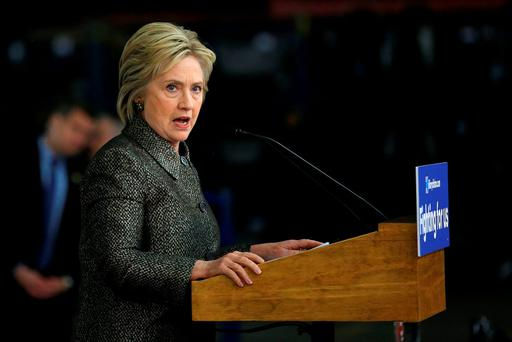 Hillary Clinton looks set to be nominated as the Democratic candidate for the White House Photo: REUTERS/Carlos Barria