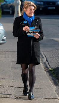 On the canvass: Carol on the campaign trail, minus children, during the General Election Photo: Justin Farrelly