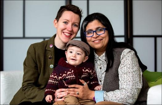 Mum's the word: Anne Marie Toole and Dil Wickremasinghe with their baby son Phoenix Photo: David Conachy
