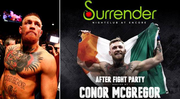 Conor McGregor may be regretting his choice of venue