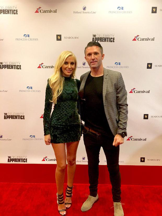 Claudine and Robbie Keane at the Celebrity Apprentice semi-final