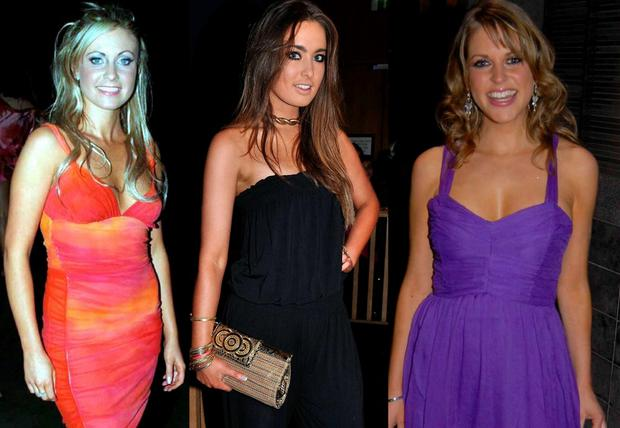 (L to R) Claudine Keane in 2004, Roz Purcell in 2010 and Amy Huberman in 2007