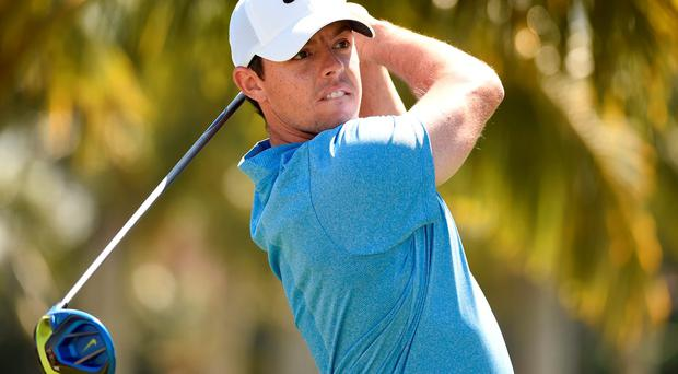 Rory McIlroy drives off the second tee during the final round of the WGC-Cadillac Championship Photo: John David Mercer-USA TODAY Sports
