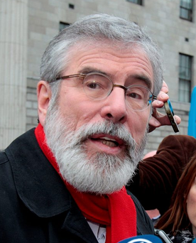 Gerry Adams: speculation that he may step down as leader. Photo: Tom Burke
