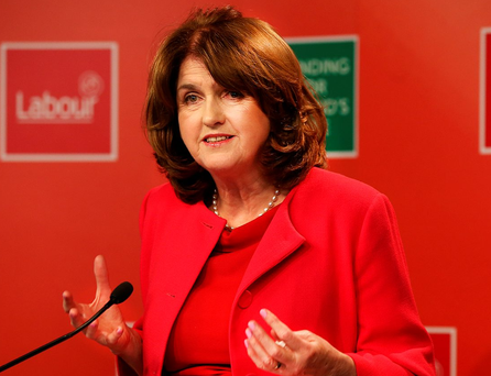 Labour leader Joan Burton. Photo: Steve Humphreys