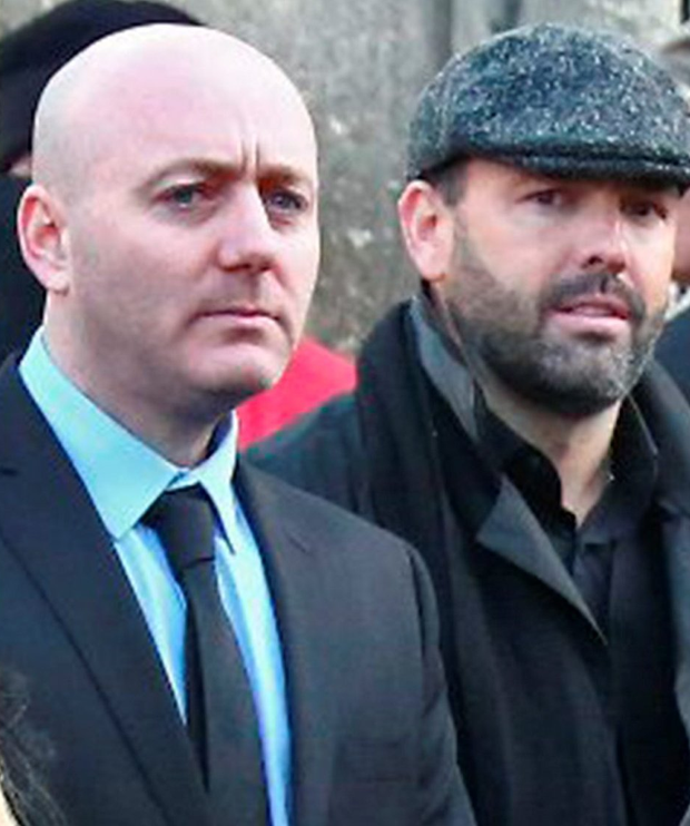 'Fat' Freddie Thompson (on left) with Daniel Kinahan