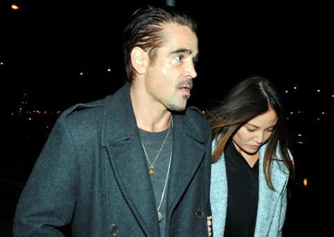 Actor Colin Farrell with a mystery date to see Adele in concert at the 3Arena Dublin. Picture: John Dardis