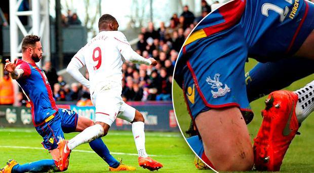 Damien Delaney is adamant he didn't make contact with Christian Benteke