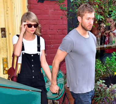 Taylor Swift and Calvin Harris (Photo by James Devaney/GC Images)