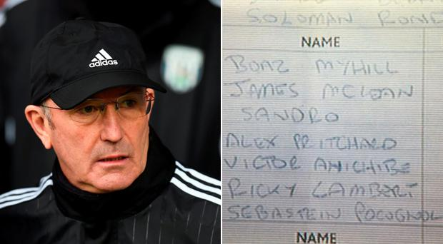 Was Tony Pulis responsible for this team-sheet