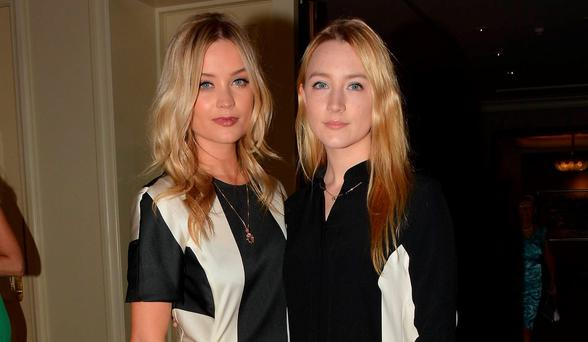 Laura Whitmore and Saoirse Ronan
