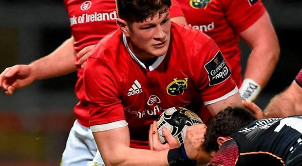 Munster's Jack O'Donoghue has been selected for Ireland's Six Nations squad. Photo: Brendan Moran / Sportsfile