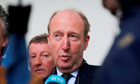 Independent TD Shane Ross during a press briefing at Leinster House,Dublin. Photo: Gareth Chaney, Collins