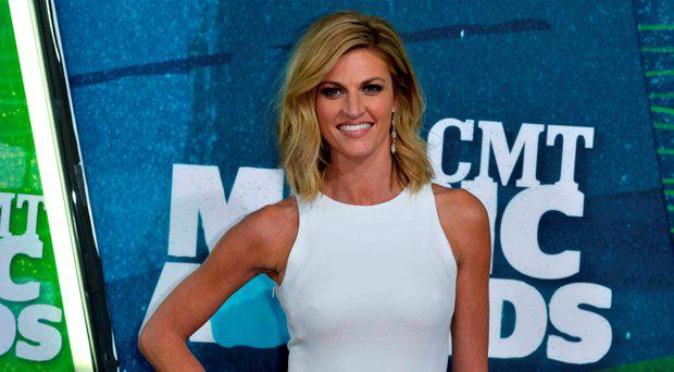 Co-host Erin Andrews arrives at the 2015 CMT Awards in Nashville, Tennessee, in this file photo taken June 10, 2015