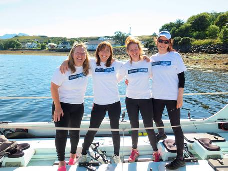 Team Yorkshire Rows handout file photo of (left to right) Janette Benaddi, Niki Doeg, Helen Butters and Frances Davies, who ended up revealing more than expected when they joined BBC Breakfast to talk about their record-breaking trip across the Atlantic.